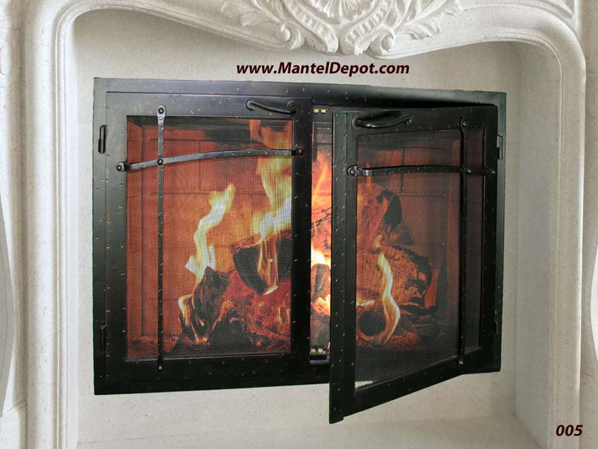 Hand forged wrought iron Fireplace Door FD005