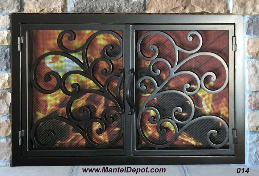 Hand forged Fireplace Door FD014