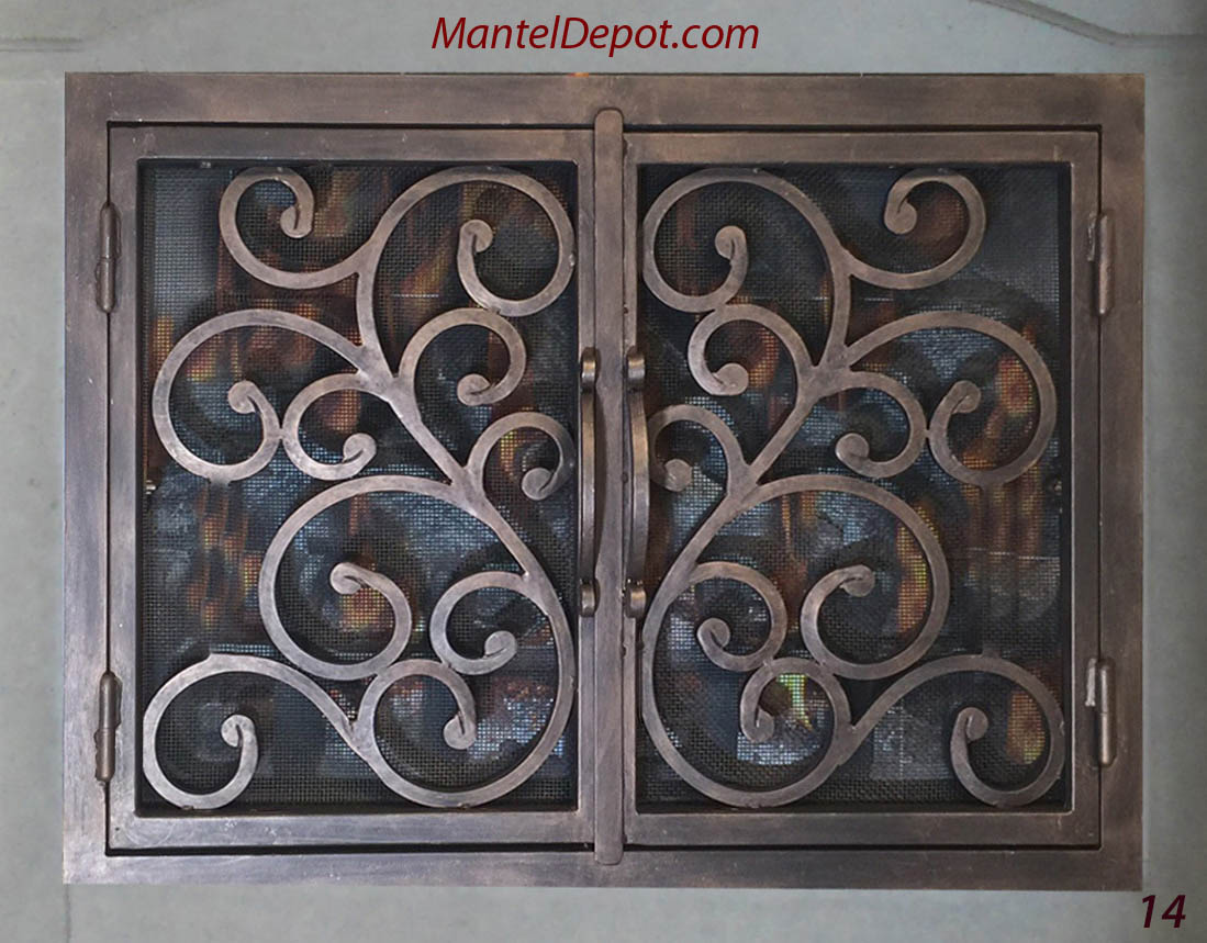 hand forged iron fireplace doors fd014 from mantel depot in san diego