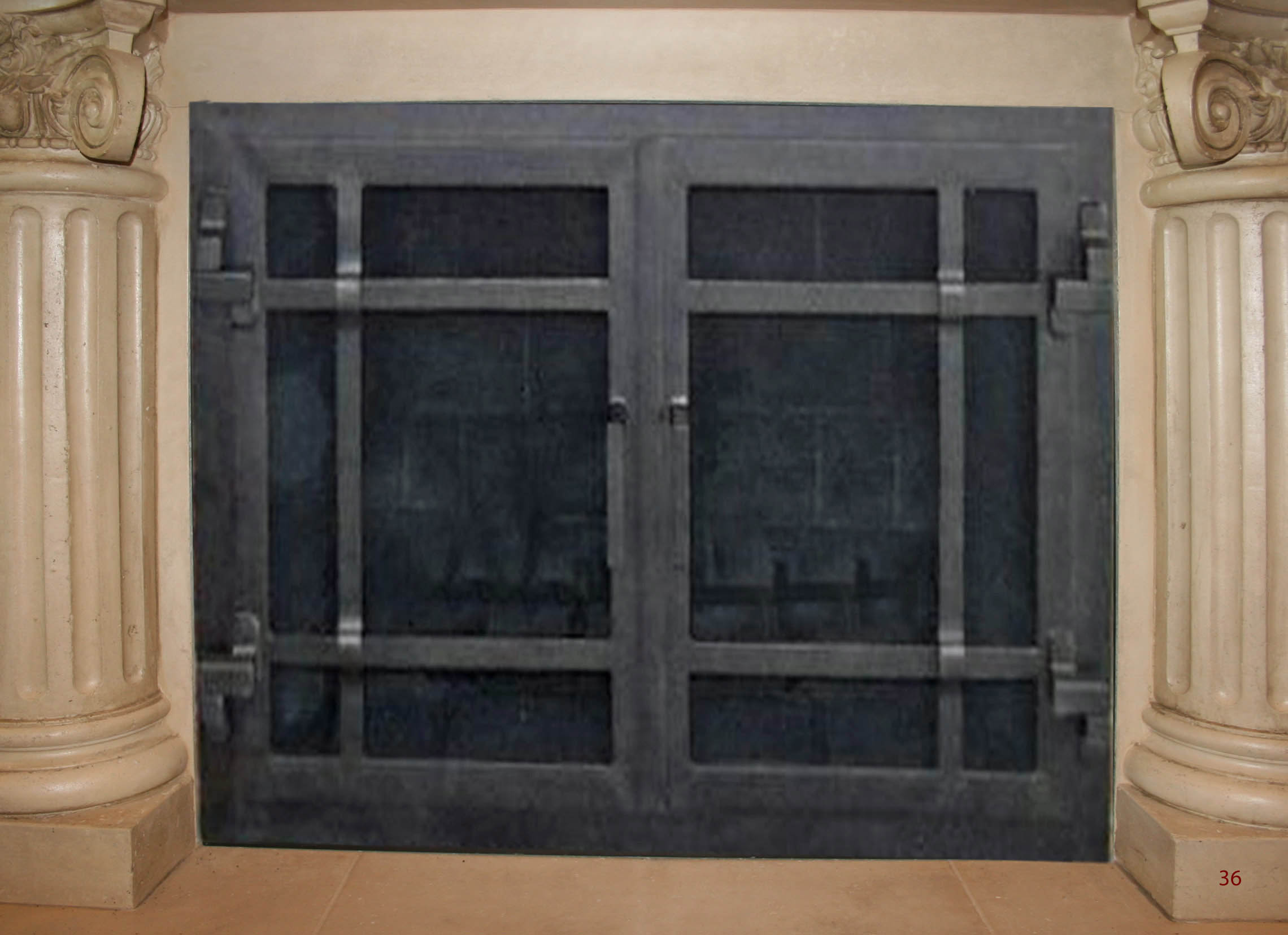 hand forged iron fireplace doors fd036 from mantel depot in san diego