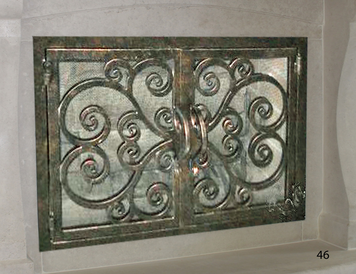 Hand Forged Iron Fireplace Doors Fd046 From Mantel Depot In San Diego
