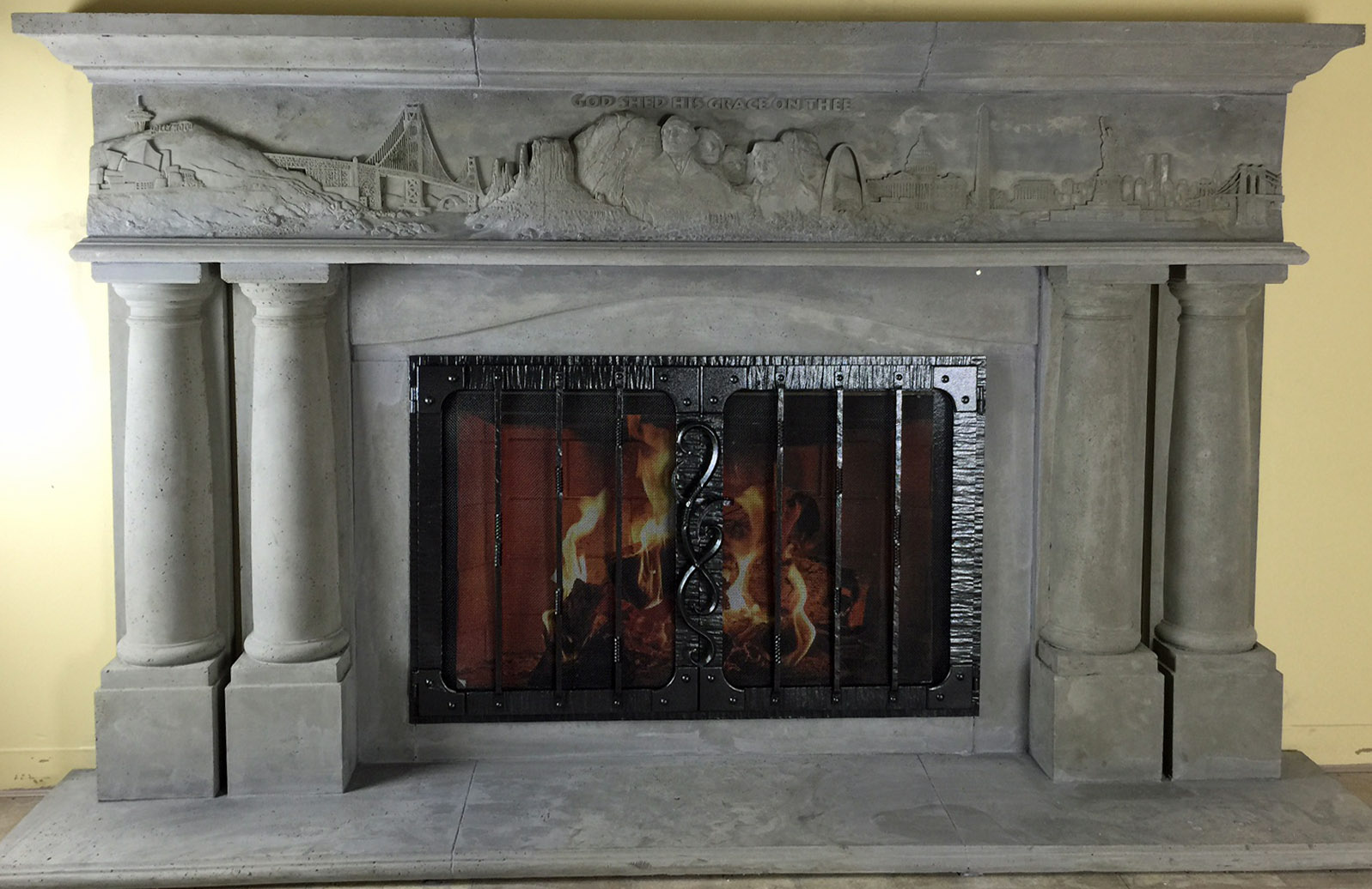 Mt1776 Fireplace Mantels Fireplace Surrounds Iron Fireplace Doors And Screens In San Diego