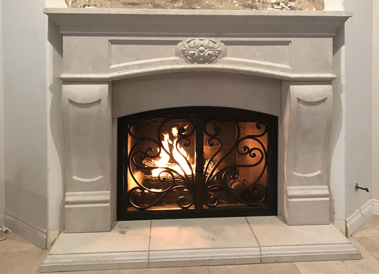 Mt202 Fireplace Mantels Fireplace Surrounds Iron Fireplace Doors And Screens In San Diego