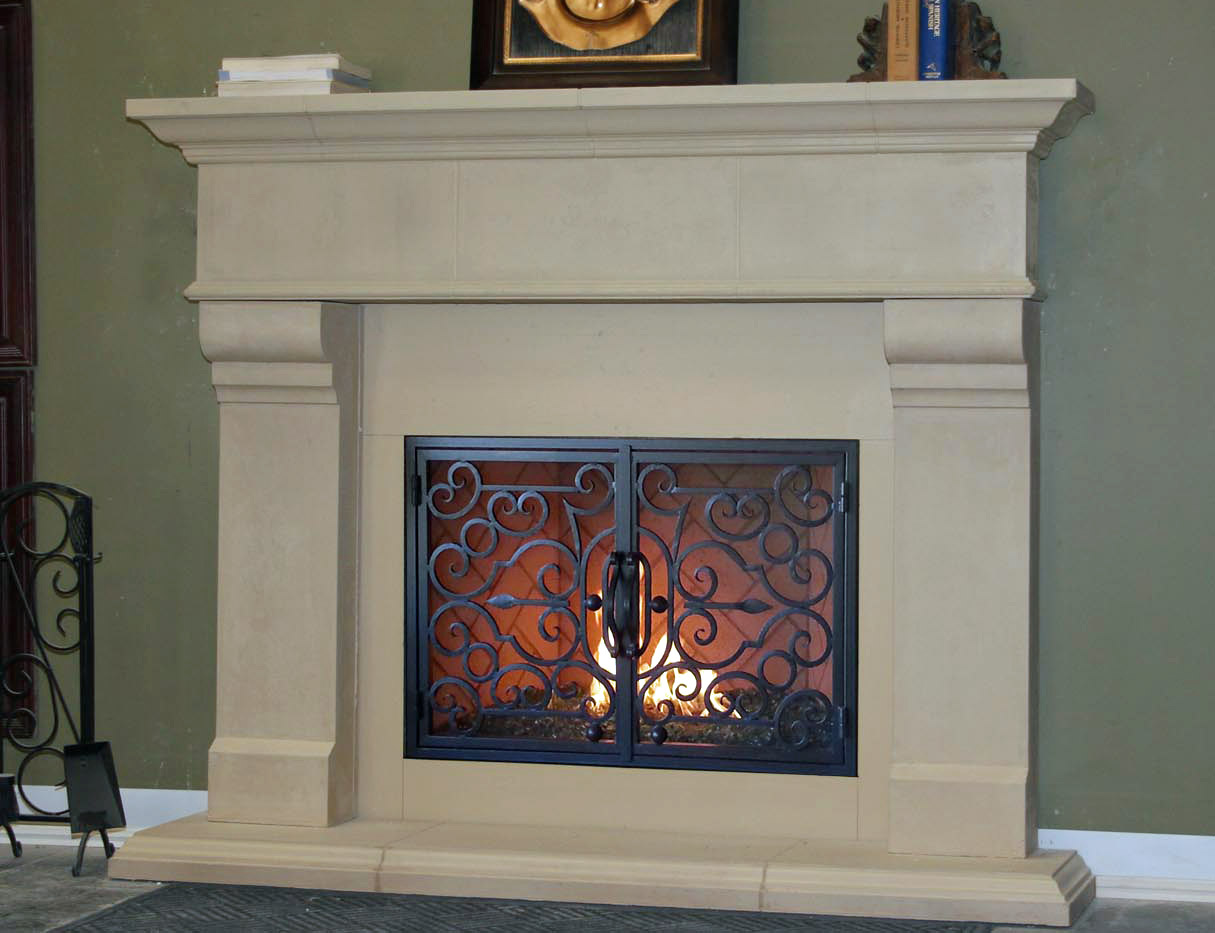 Mt230 Fireplace Mantels Fireplace Surrounds Iron Fireplace Doors And Screens In San Diego