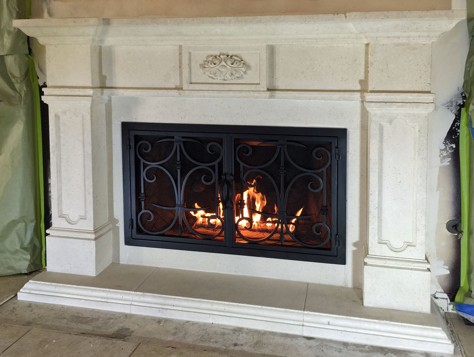 Mt231 Fireplace Mantels Fireplace Surrounds Iron Fireplace Doors And Screens In San Diego