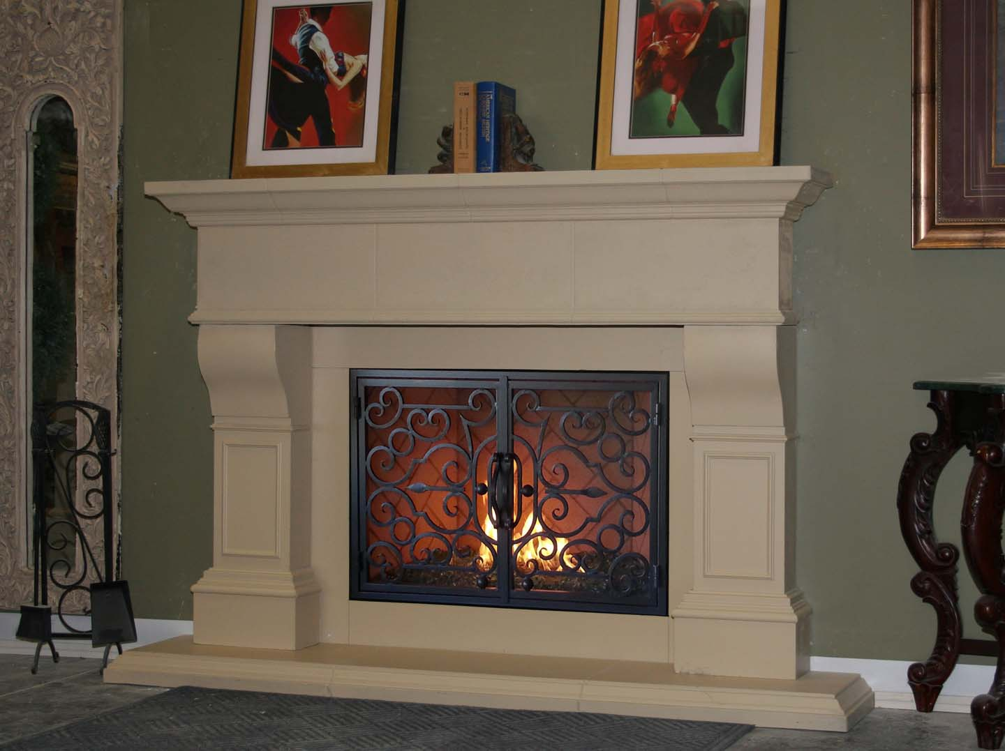 Mt232 Fireplace Mantels Fireplace Surrounds Iron Fireplace Doors And Screens In San Diego