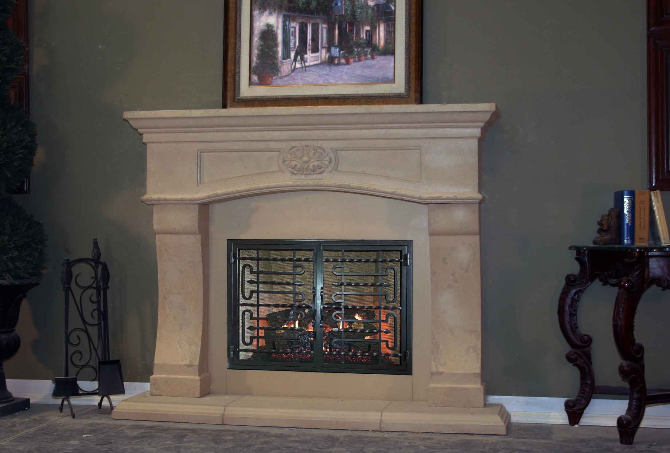 Mt233 Fireplace Mantels Fireplace Surrounds Iron Fireplace Doors And Screens In San Diego