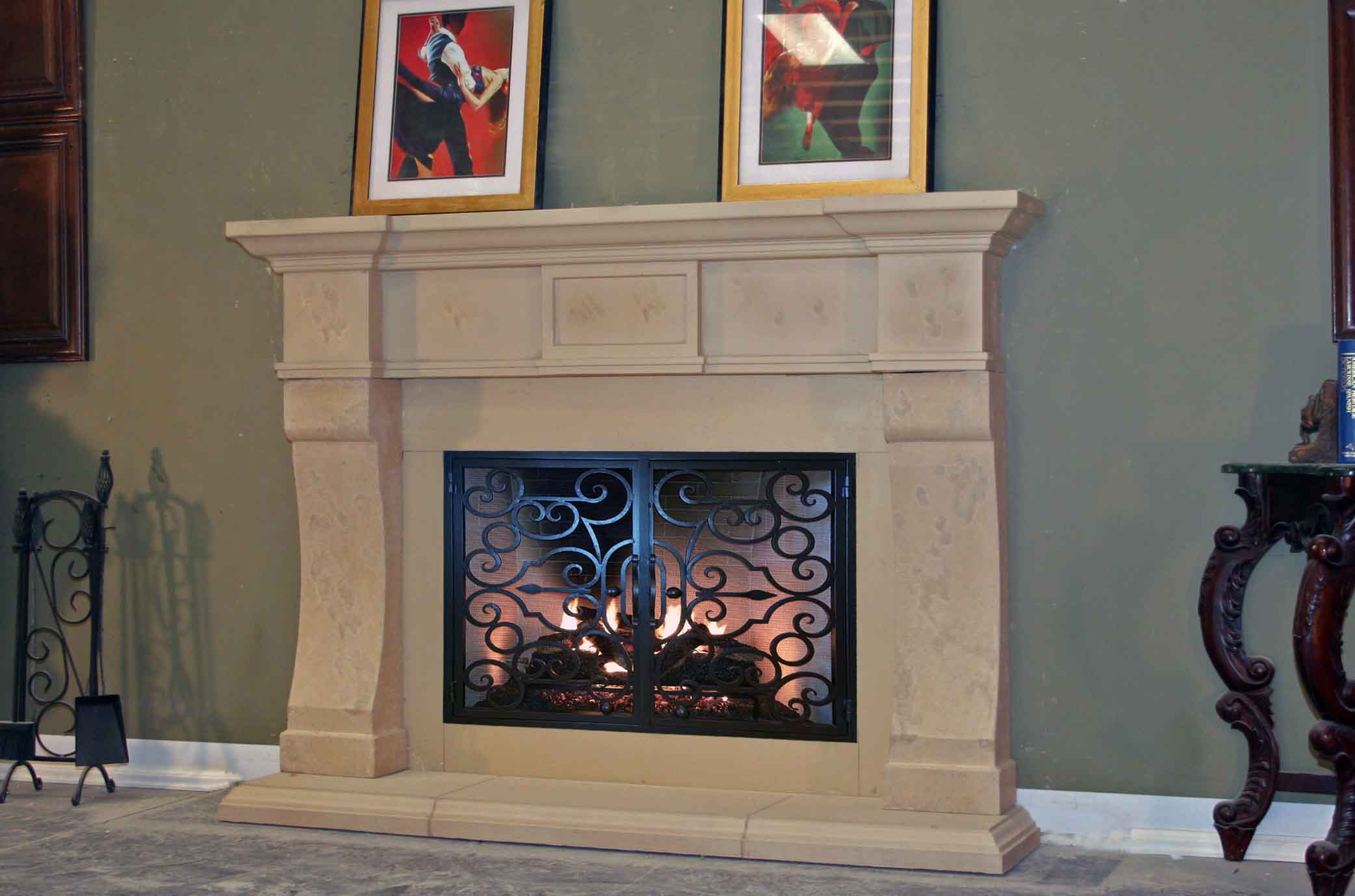 Mt234 Fireplace Mantels Fireplace Surrounds Iron Fireplace Doors And Screens In San Diego