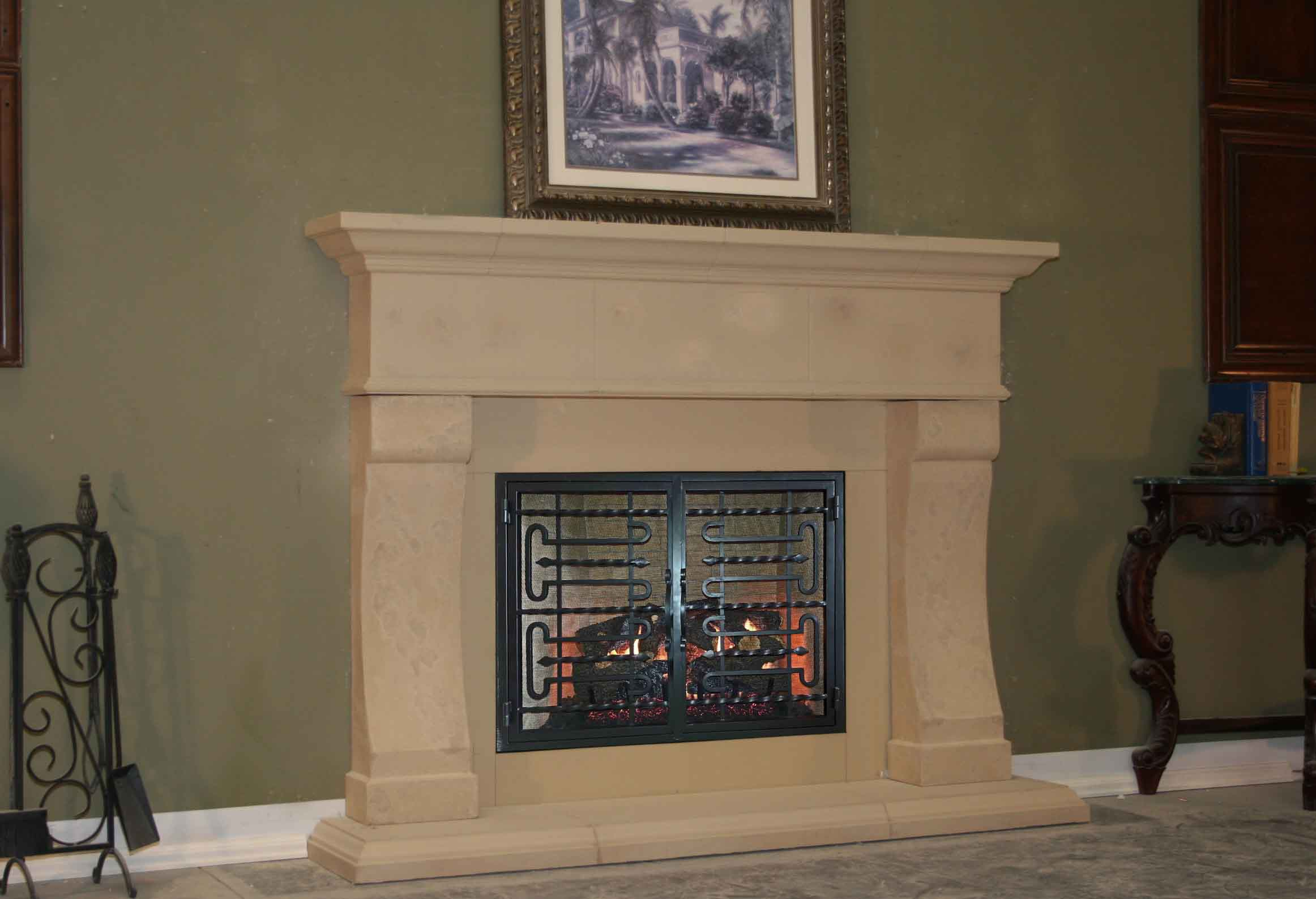 Mt236 Fireplace Mantels Fireplace Surrounds Iron Fireplace Doors And Screens In San Diego