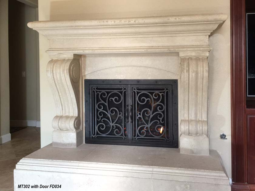 Mt302 Fireplace Mantels Fireplace Surrounds Iron Fireplace Doors And Screens In San Diego