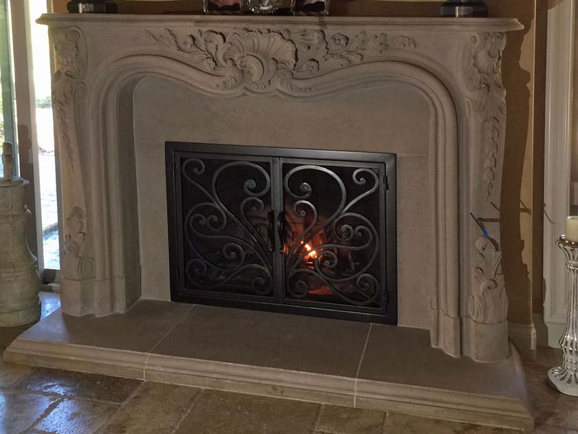 Mt304 Fireplace Mantels Fireplace Surrounds Iron Fireplace Doors And Screens In San Diego