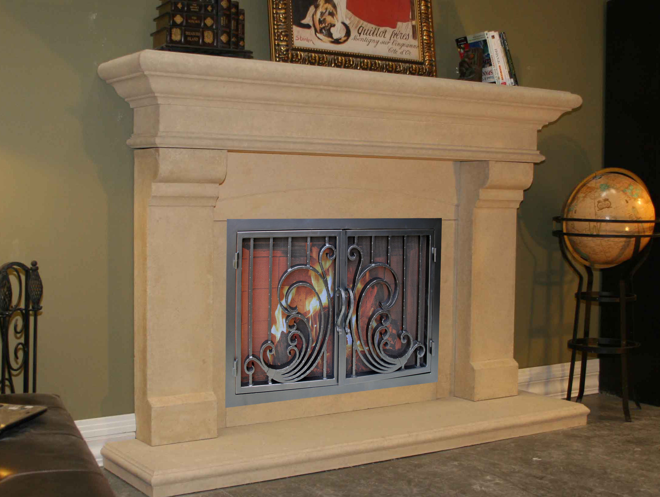 Fireplace Mantels Mt311 Fireplace Surrounds Iron Fireplace Doors And Screens In San Diego