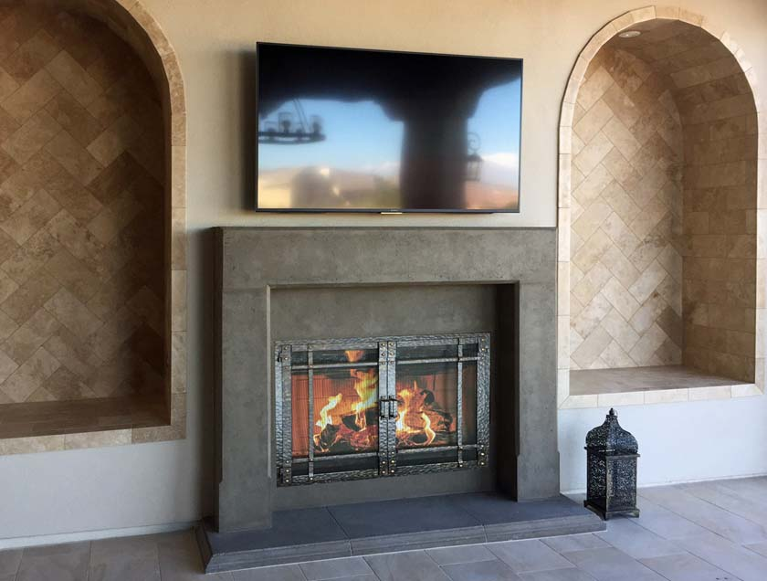 Mt331 Fireplace Mantels Fireplace Surrounds Iron Fireplace Doors And Screens In San Diego