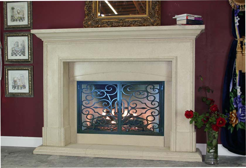 Mt337 Fireplace Mantels Fireplace Surrounds Iron Fireplace Doors And Screens In San Diego