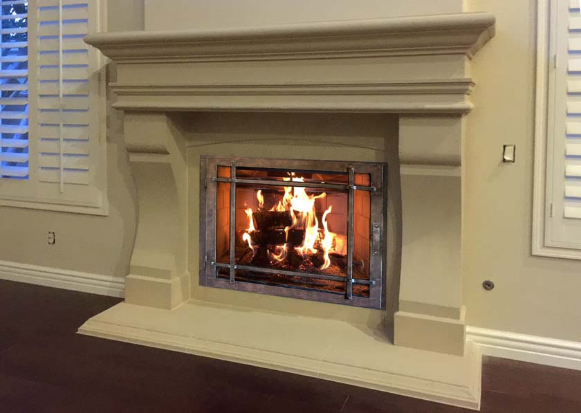 Mt500 Fireplace Mantels Fireplace Surrounds Iron Fireplace Doors And Screens In San Diego