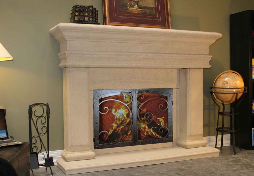 Mt514 Fireplace Mantels Fireplace Surrounds Iron Fireplace Doors And Screens In San Diego