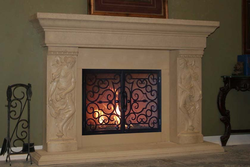 Mt520 Fireplace Mantels Fireplace Surrounds Iron Fireplace Doors And Screens In San Diego
