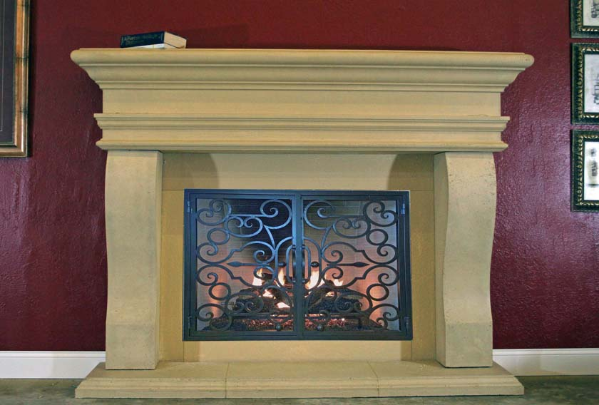 Mt521 Fireplace Mantels Fireplace Surrounds Iron Fireplace Doors And Screens In San Diego