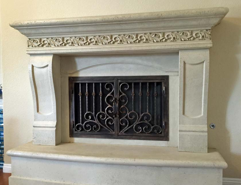 Fireplace mantel picture