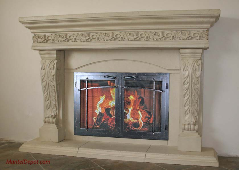 Mt712 Fireplace Mantels Fireplace Surrounds Iron Fireplace Doors And Screens In San Diego