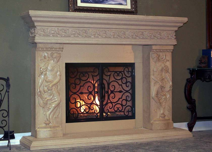 Mt715 Fireplace Mantels Fireplace Surrounds Iron Fireplace Doors And Screens In San Diego