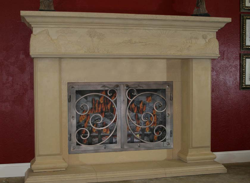 Mt719 Fireplace Mantels Fireplace Surrounds Iron Fireplace Doors And Screens In San Diego