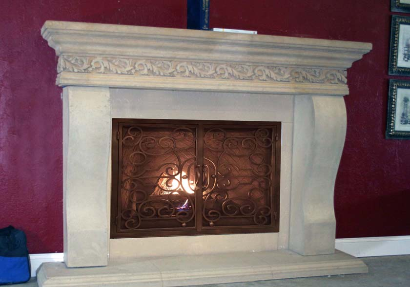 Mt722 Fireplace Mantels Fireplace Surrounds Iron Fireplace Doors And Screens In San Diego