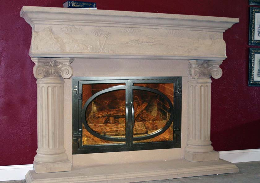 Mt723 Fireplace Mantels Fireplace Surrounds Iron Fireplace Doors And Screens In San Diego