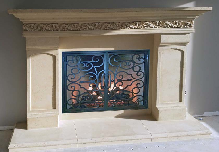 Mt725 Fireplace Mantels Fireplace Surrounds Iron Fireplace Doors And Screens In San Diego