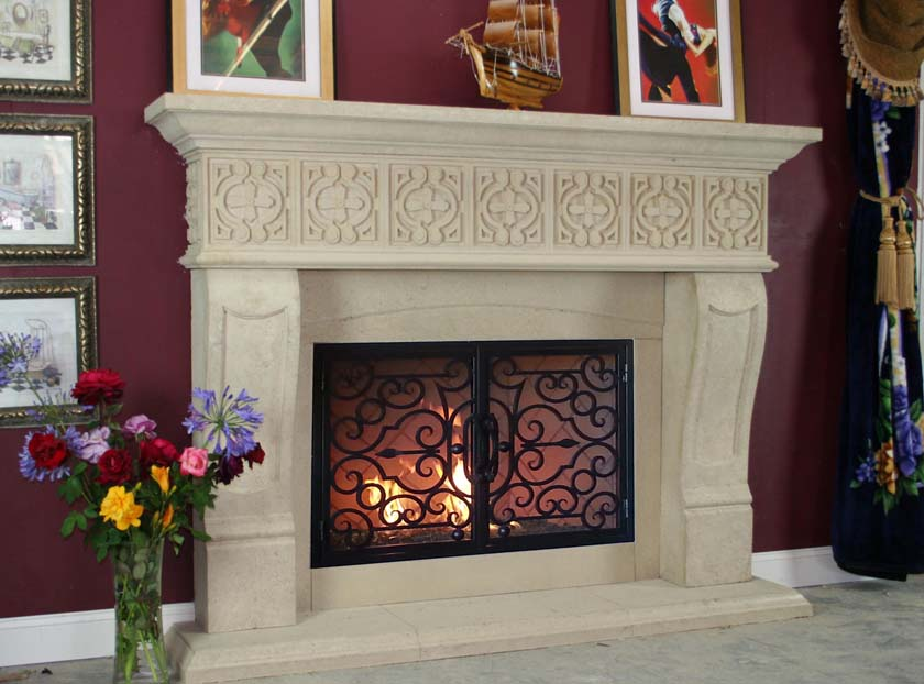 Mt726 Fireplace Mantels Fireplace Surrounds Iron Fireplace Doors And Screens In San Diego