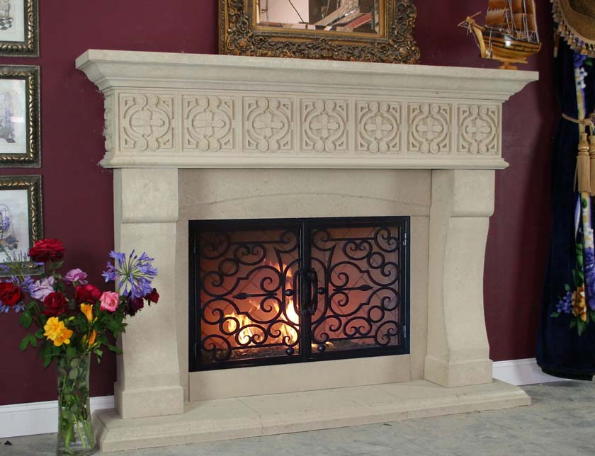 Mt736 Fireplace Mantels Fireplace Surrounds Iron Fireplace Doors And Screens In San Diego