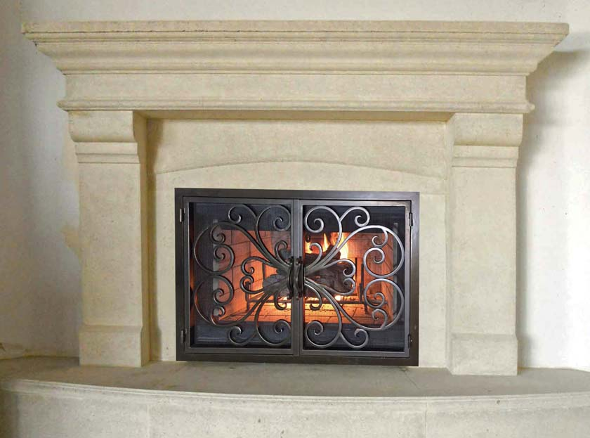 Mt802 Fireplace Mantels Fireplace Surrounds Iron Fireplace Doors And Screens In San Diego