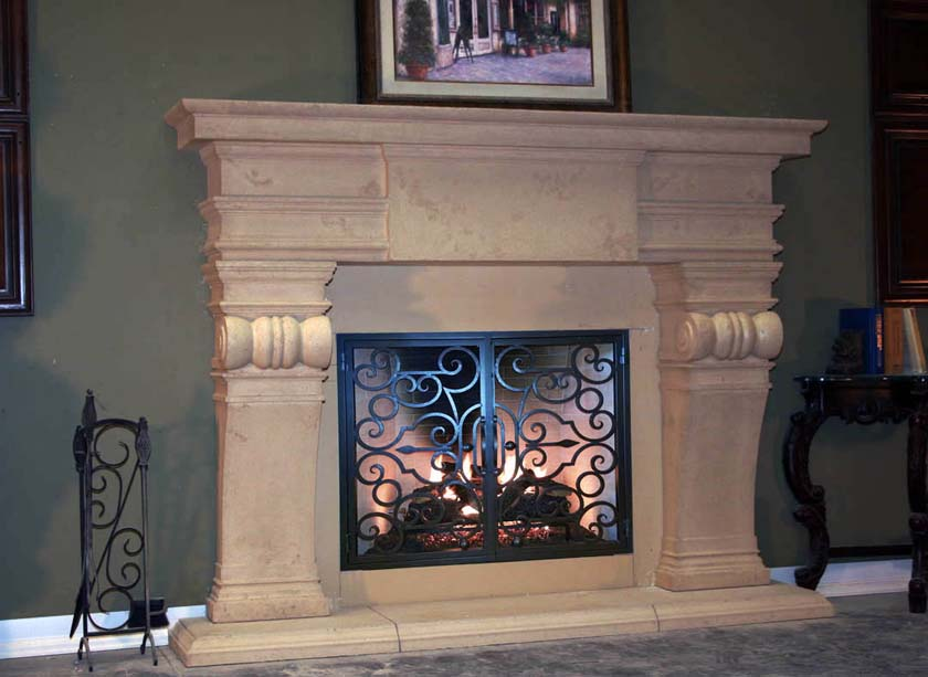 Mt805 Fireplace Mantels Fireplace Surrounds Iron Fireplace Doors And Screens In San Diego