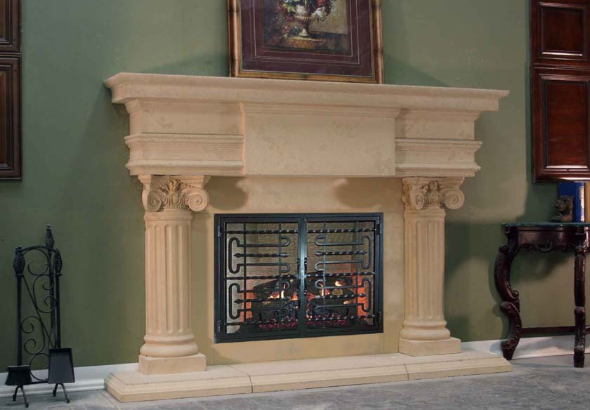 Mt815 Fireplace Mantels Fireplace Surrounds Iron Fireplace Doors And Screens In San Diego