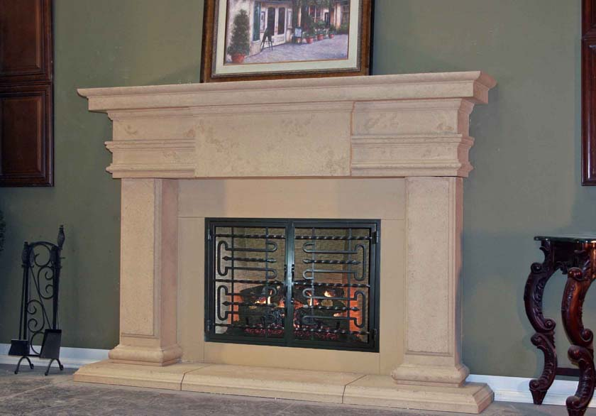 Mt817 Fireplace Mantels Fireplace Surrounds Iron Fireplace Doors And Screens In San Diego