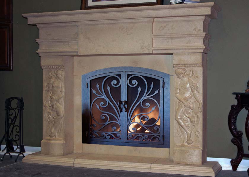 metal fireplace frame fireplace ideas