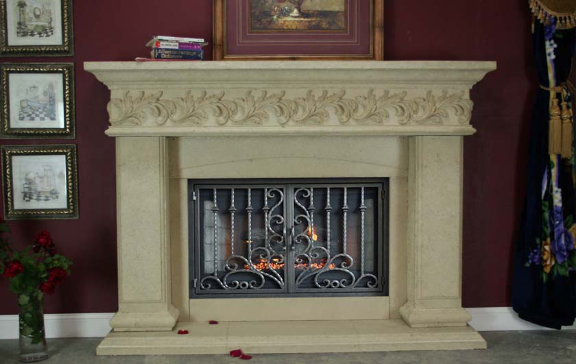 Mt838 Fireplace Mantels Fireplace Surrounds Iron Fireplace Doors And Screens In San Diego