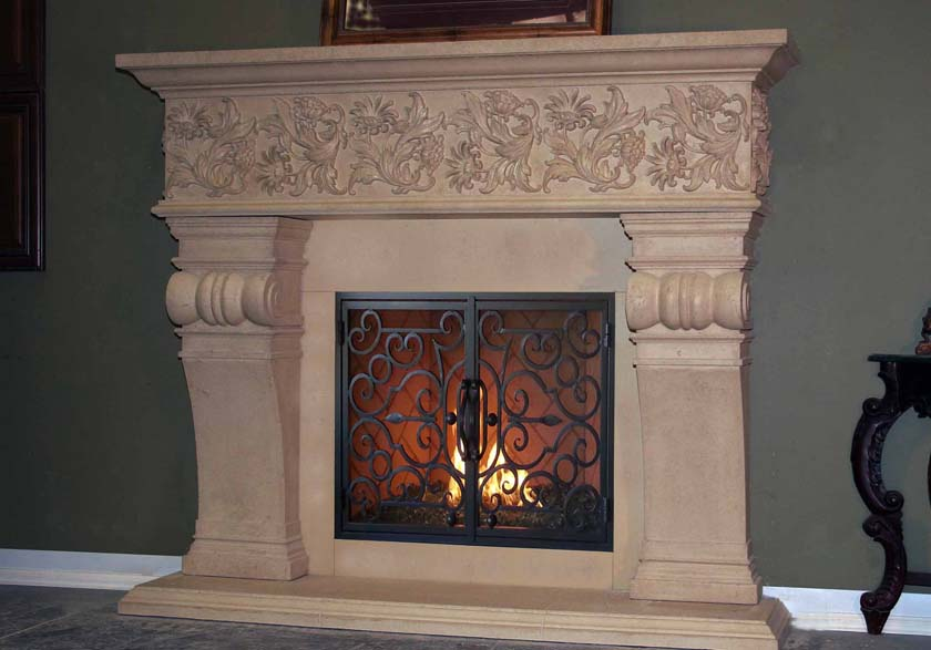 Mt881 Fireplace Mantels Fireplace Surrounds Iron Fireplace Doors And Screens In San Diego