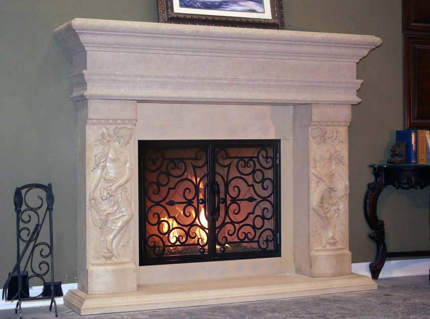 Mt882 Fireplace Mantels Fireplace Surrounds Iron Fireplace Doors And Screens In San Diego