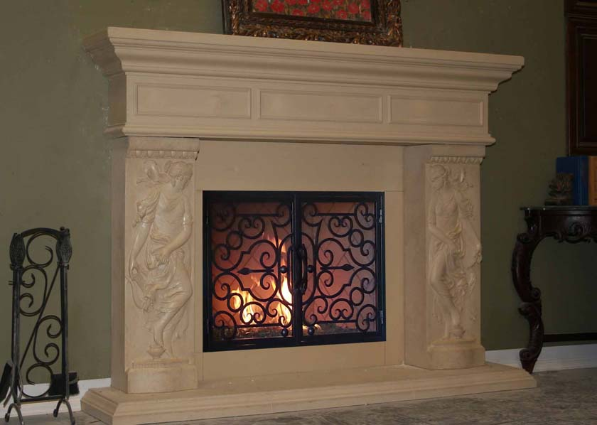 Mt884 Fireplace Mantels Fireplace Surrounds Iron Fireplace Doors And Screens In San Diego
