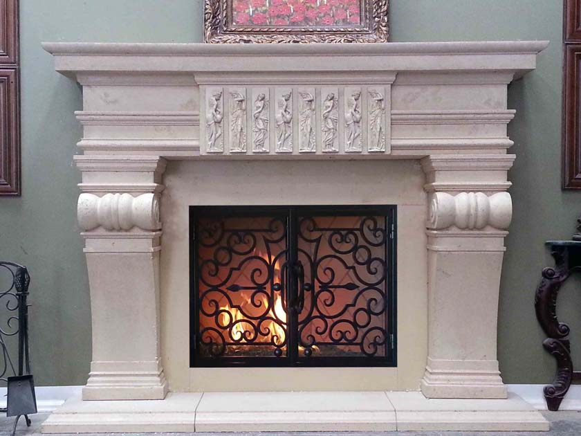 Mt886 Fireplace Mantels Fireplace Surrounds Iron Fireplace Doors And Screens In San Diego