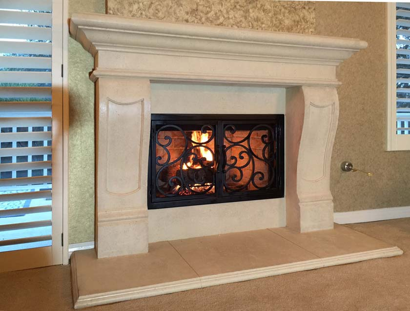 Mt901 Fireplace Mantels Fireplace Surrounds Iron Fireplace Doors And Screens In San Diego